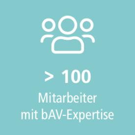 Mehr als 100 Mitarbeiter mit bAV Expertise